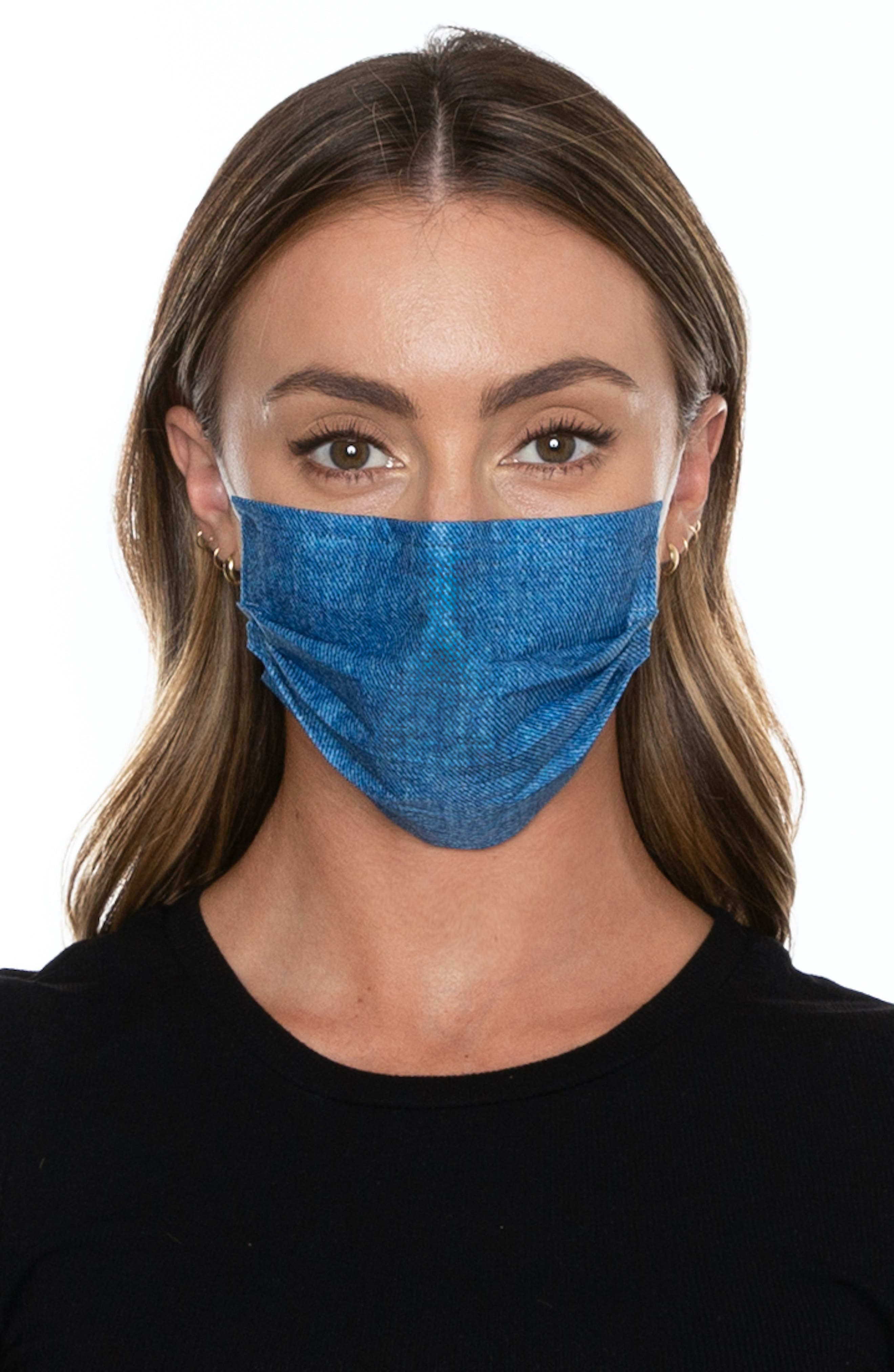 Image of MEDIPOP 5-Pack Adult Disposable Print Pleated Face Masks