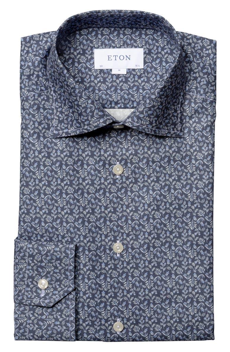 ETON Contemporary Fit Floral Dress Shirt, Main, color, 400