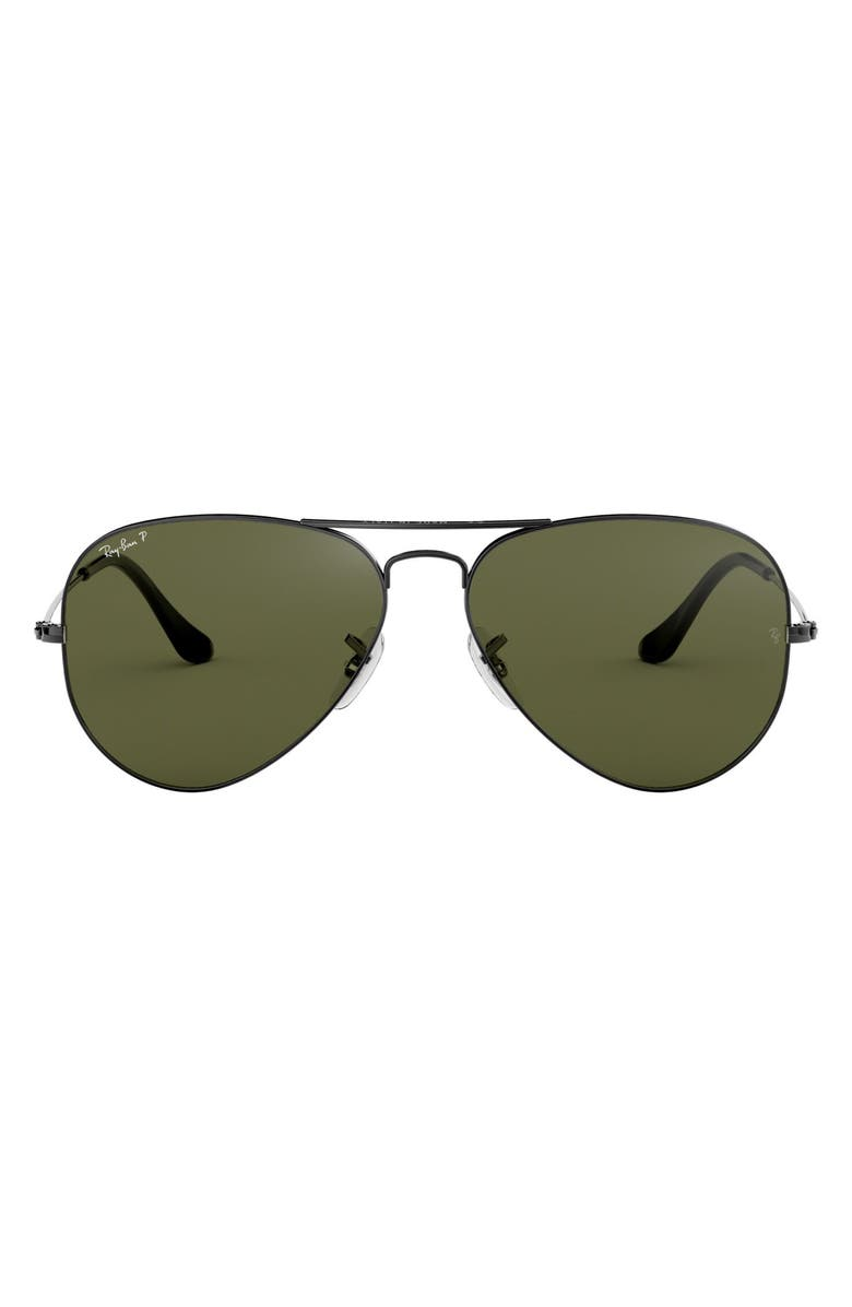 RAY-BAN 'Polarized Original Aviator' 58mm Sunglasses, Main, color, 322