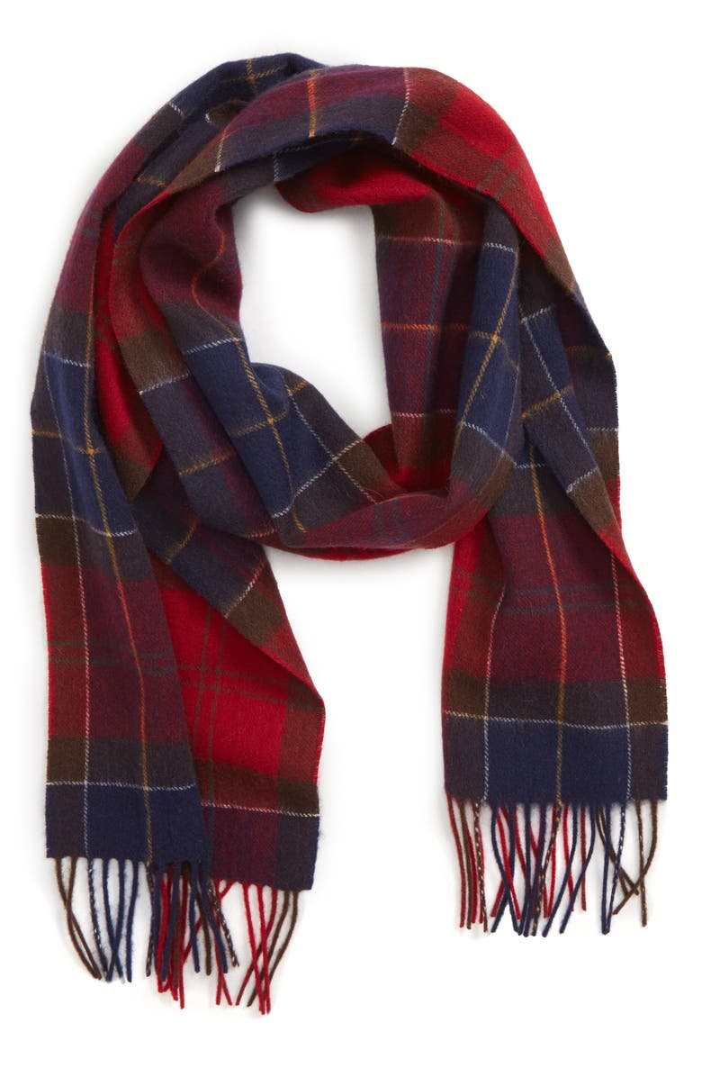 BARBOUR Holden Tartan Plaid Scarf, Main, color, 600
