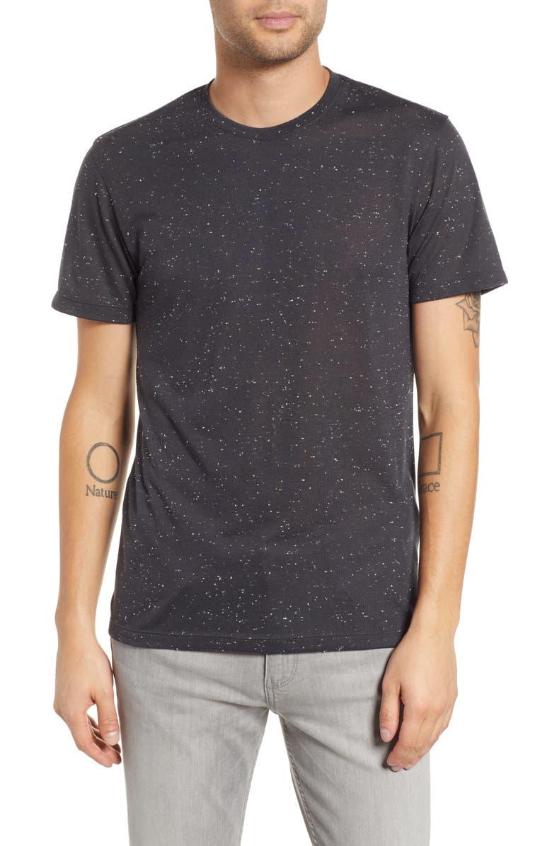 THE RAIL Neppy Crewneck T-Shirt, Main, color, 001