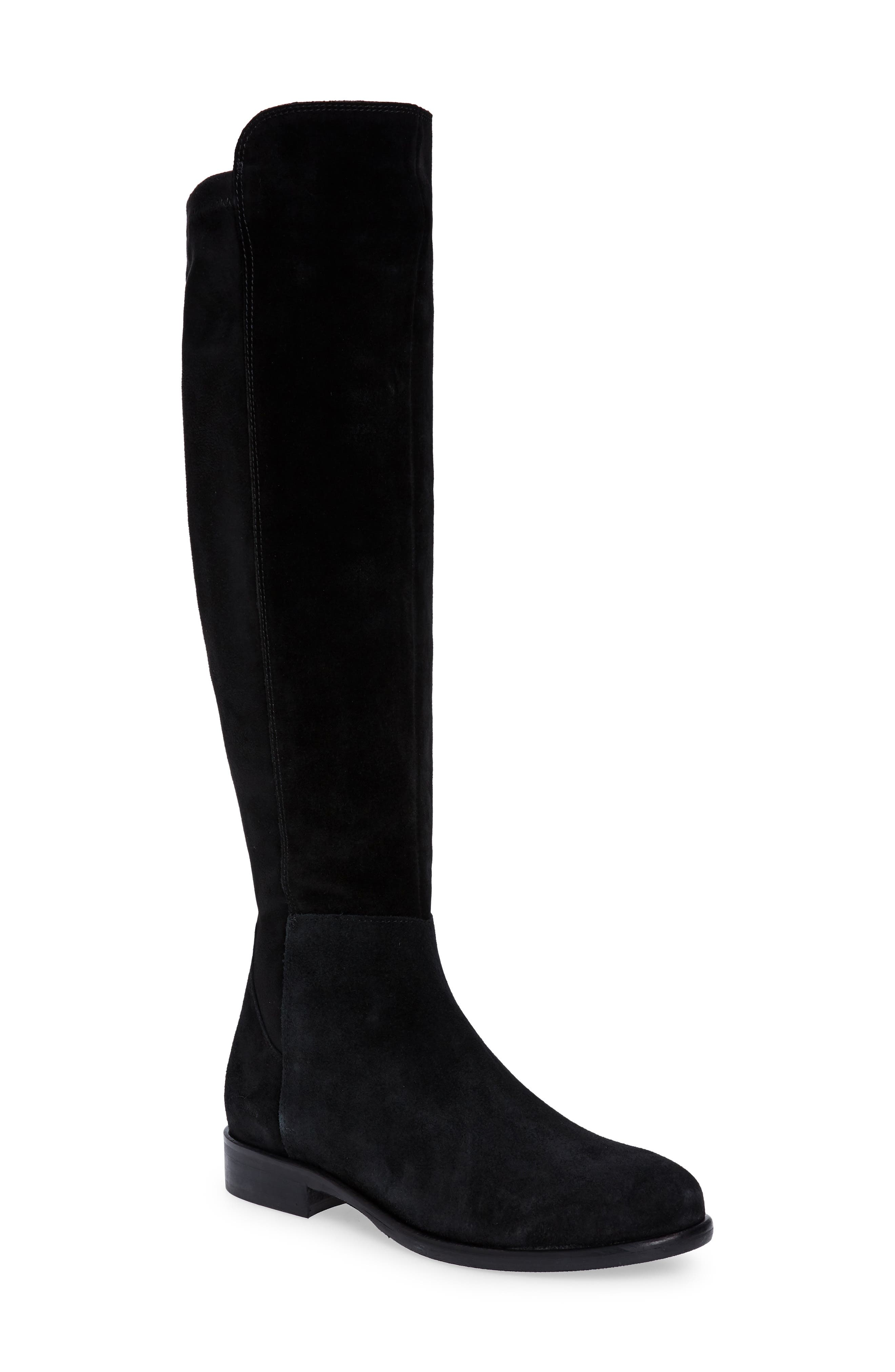 A low-heel boot made in Italy features a stretchy shaft panel for a sleek, slimining profile. Style Name: Cordani Bethany Over The Knee Boot (Women). Style Number: 6102533. Available in stores.