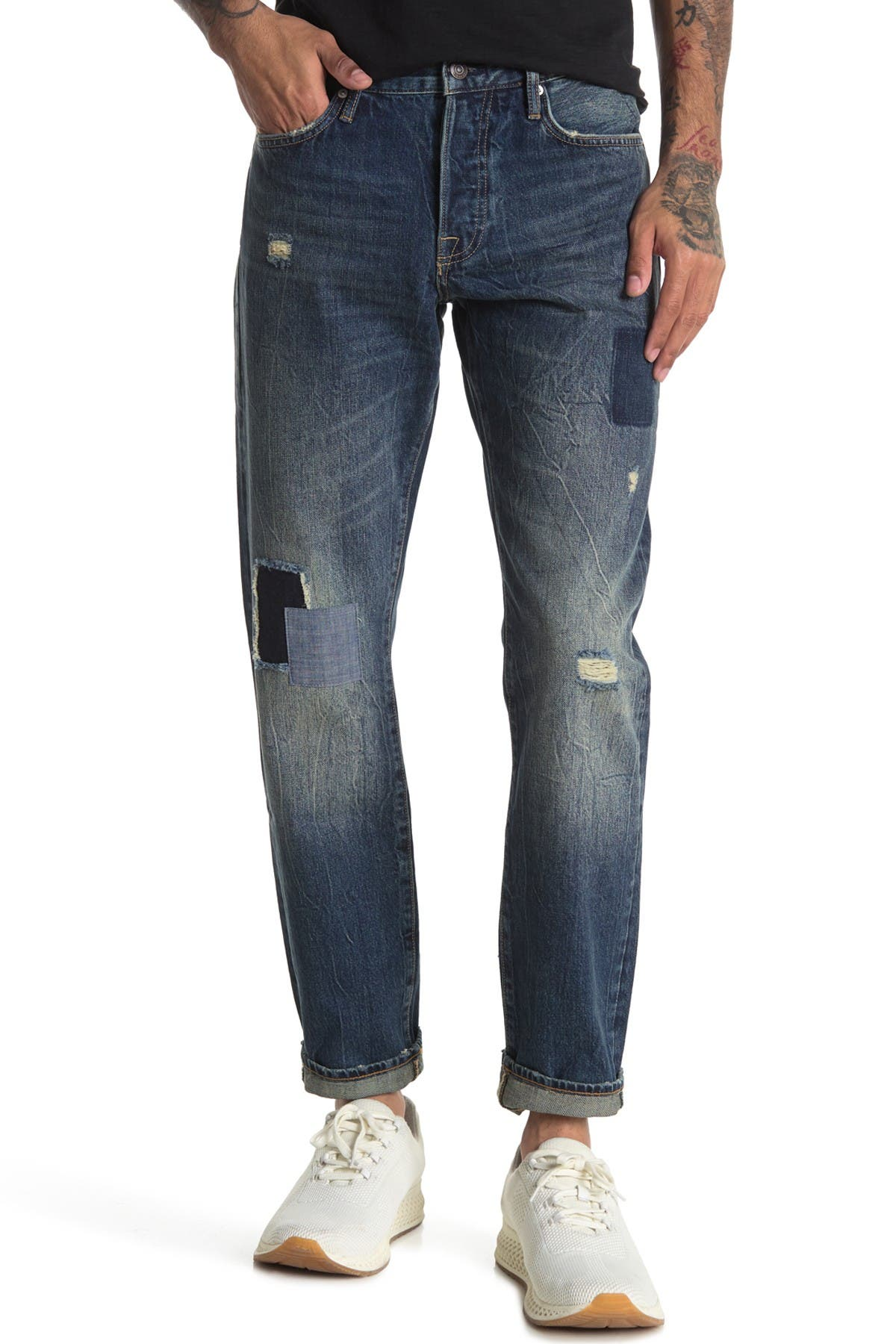 Image of OVADIA AND SONS Distressed Straight Leg Jeans