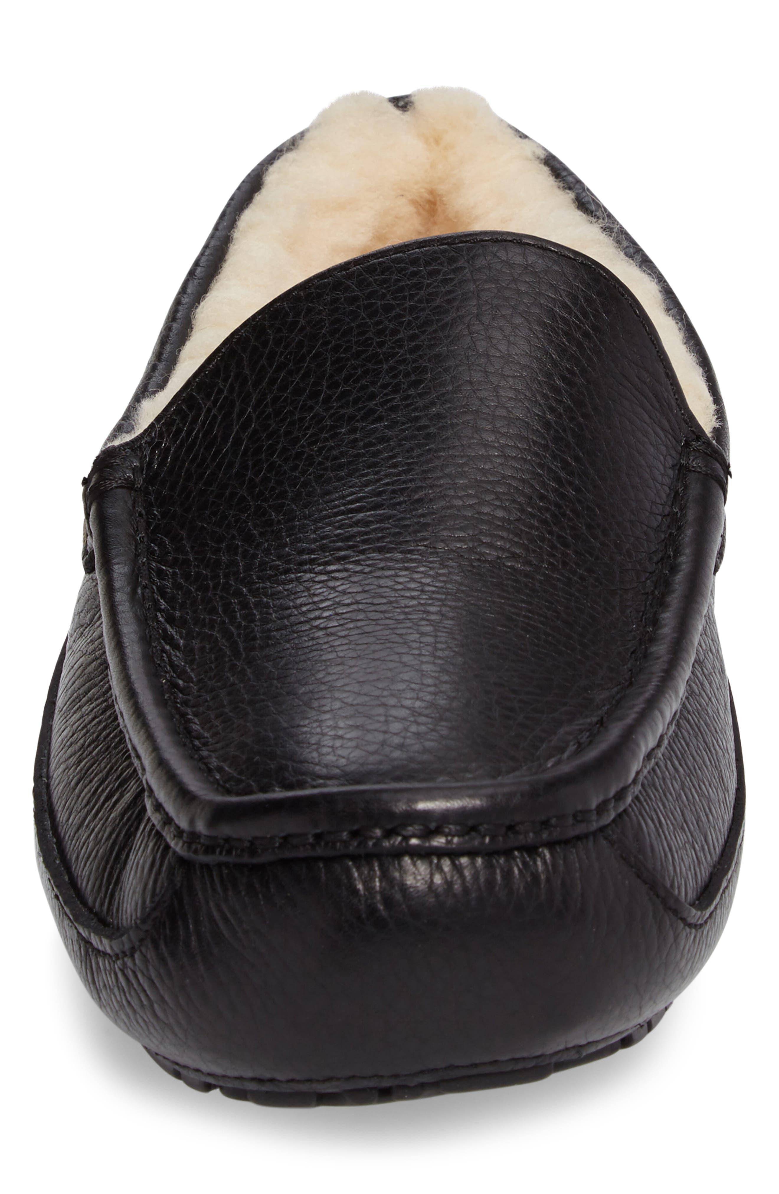 ,                             Ascot Leather Slipper,                             Alternate thumbnail 4, color,                             BLACK