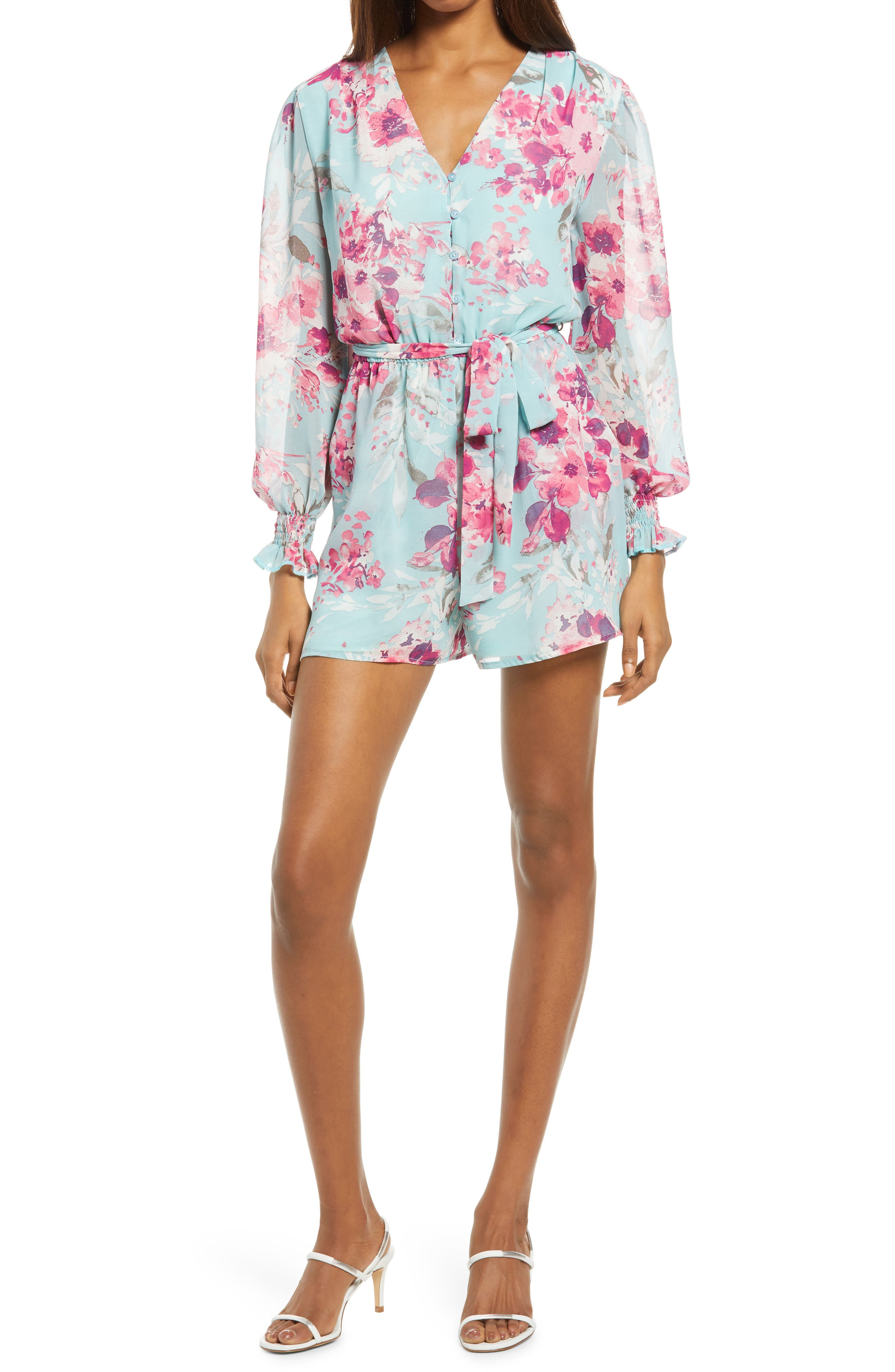 Mika Floral Long Sleeve Romper