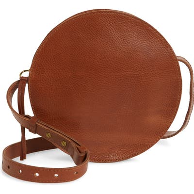 Madewell The Simple Circle Leather Crossbody Bag - Brown