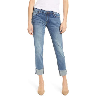 Kut From The Kloth Catherine Raw Hem Boyfriend Jeans, Blue