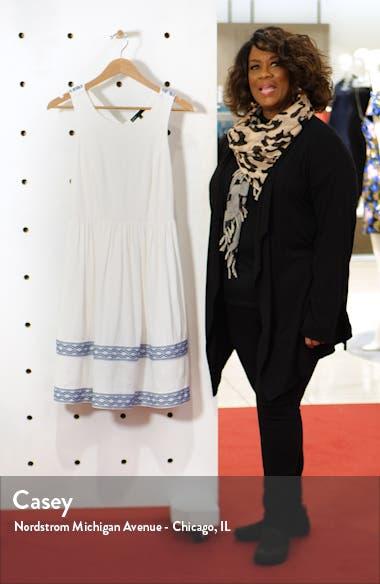 x Hi Sugarplum! Ravello Geo Trim Sleeveless Fit & Flare Dress, sales video thumbnail