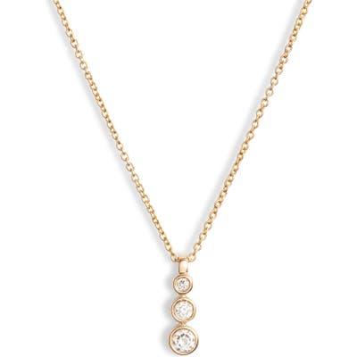 Dana Rebecca Designs Triple Bezel Diamond Pendant Necklace