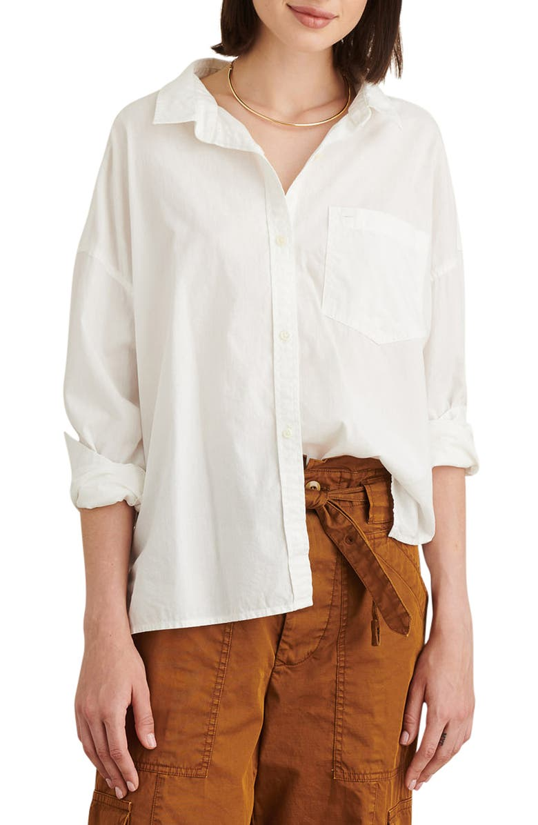 ALEX MILL Detachable Collar Oversize Shirt, Main, color, WHITE