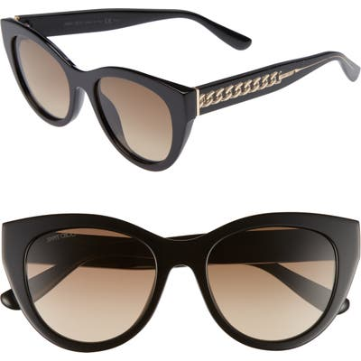 Jimmy Choo Chana 52Mm Gradient Sunglasses - Black