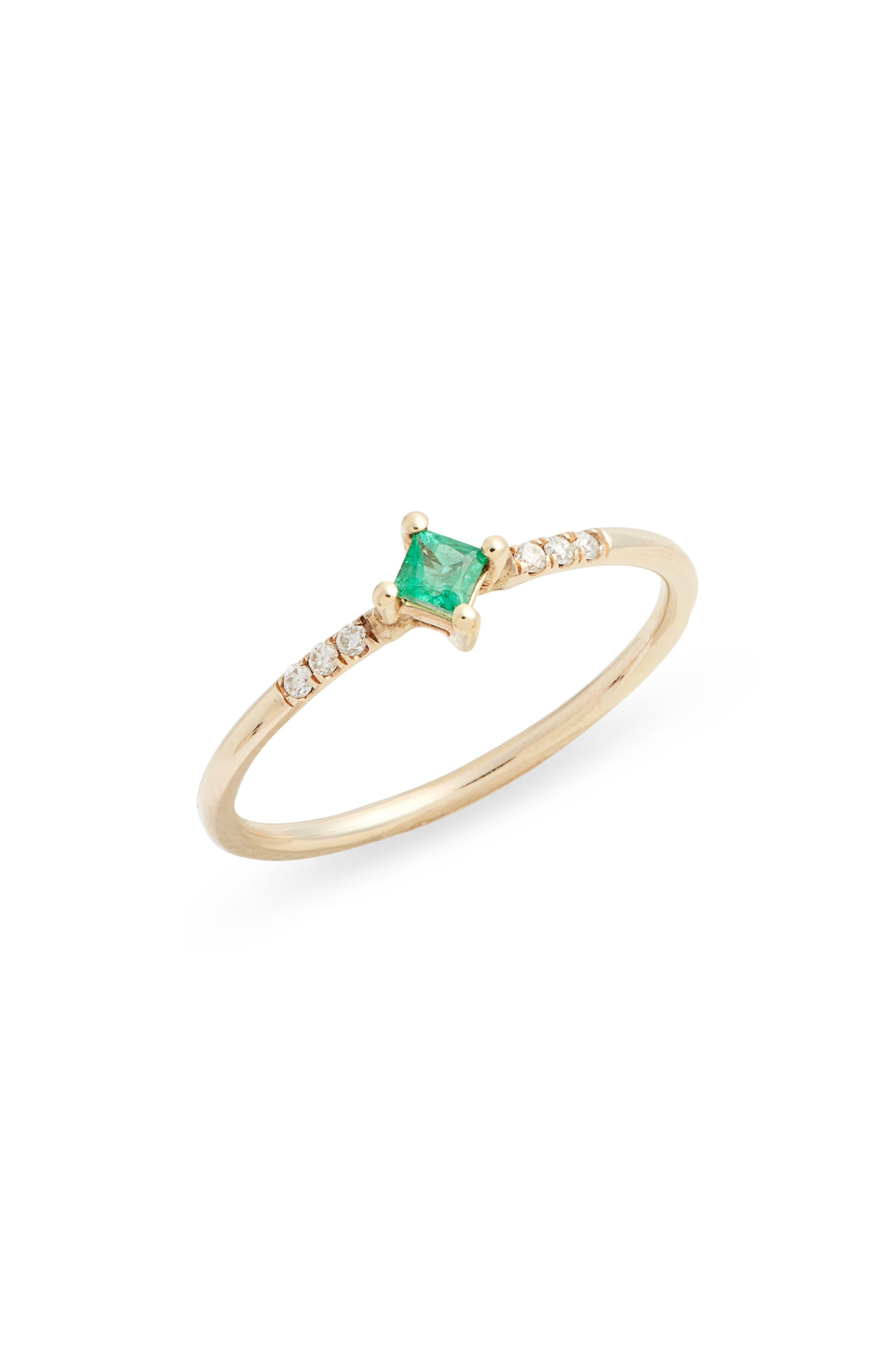 Emerald Equilibrium Point Ring
