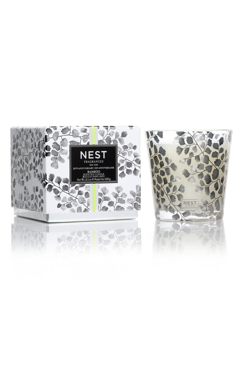 NEST FRAGRANCES Bamboo 3-Wick Candle, Main, color, NO COLOR