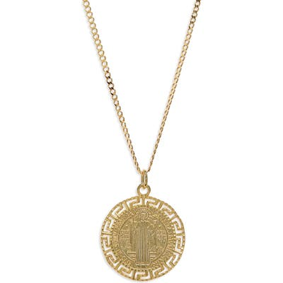 Argento Vivo Antique Coin Sterling Medallion Necklace