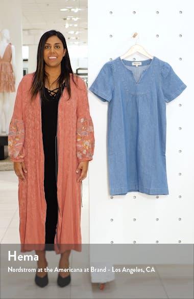 Denim Popover Swing Dress, sales video thumbnail