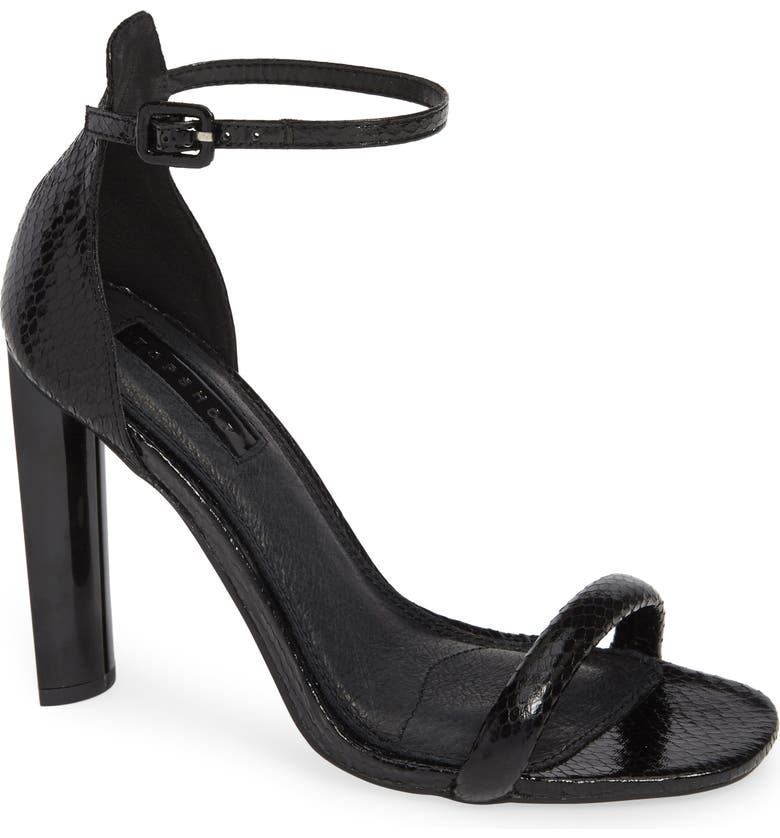 TOPSHOP Robyn Ankle Strap Sandal, Main, color, 001