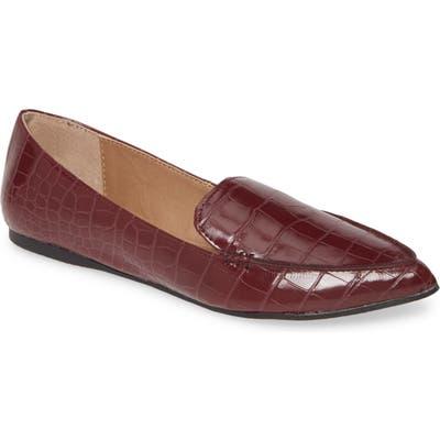 Steve Madden Feather Loafer Flat- Burgundy