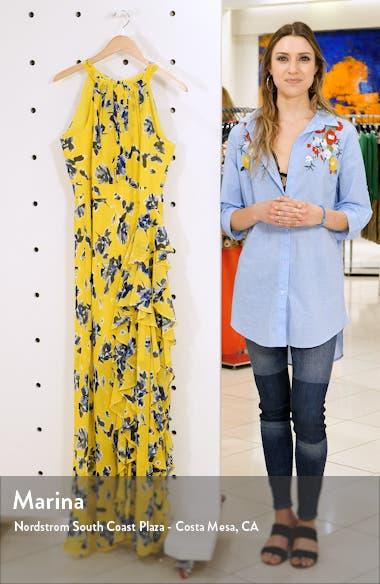 Halter Ruffle Maxi Dress, sales video thumbnail
