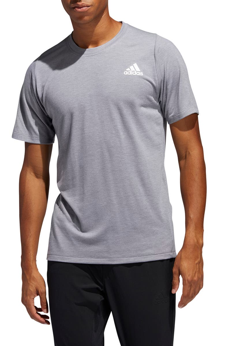 ADIDAS FreeLift Sport Prime AEROREADY<sup>®</sup> Performance T-Shirt, Main, color, GREY MELANGE