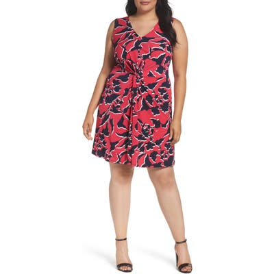 Plus Size Leota Twist Front Jersey Dress, Pink