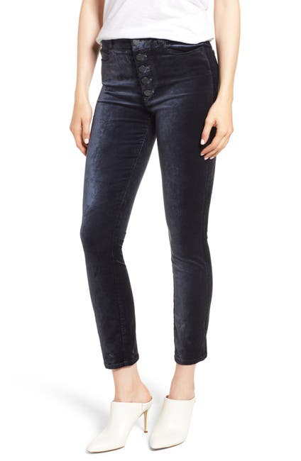 Image of PAIGE Hoxton High Waist Ankle Peg Velvet Jeans