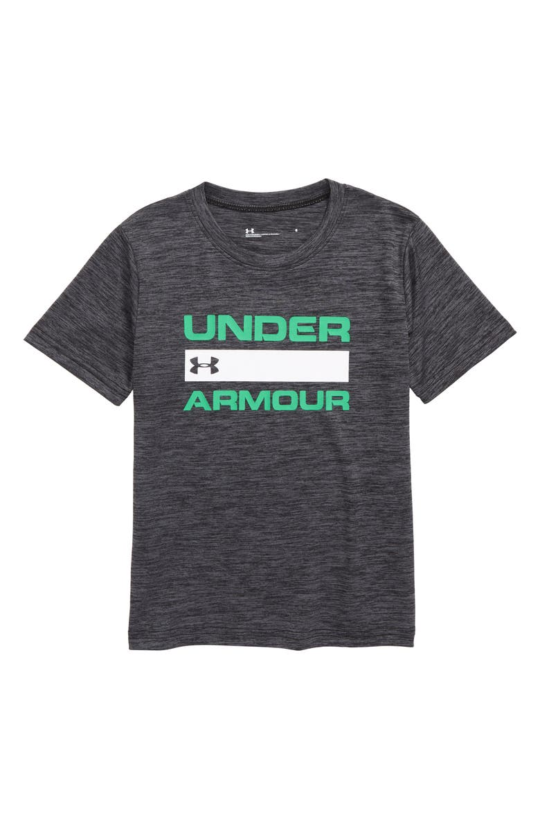 UNDER ARMOUR Branded Twist HeatGear<sup>®</sup> T-Shirt, Main, color, 001