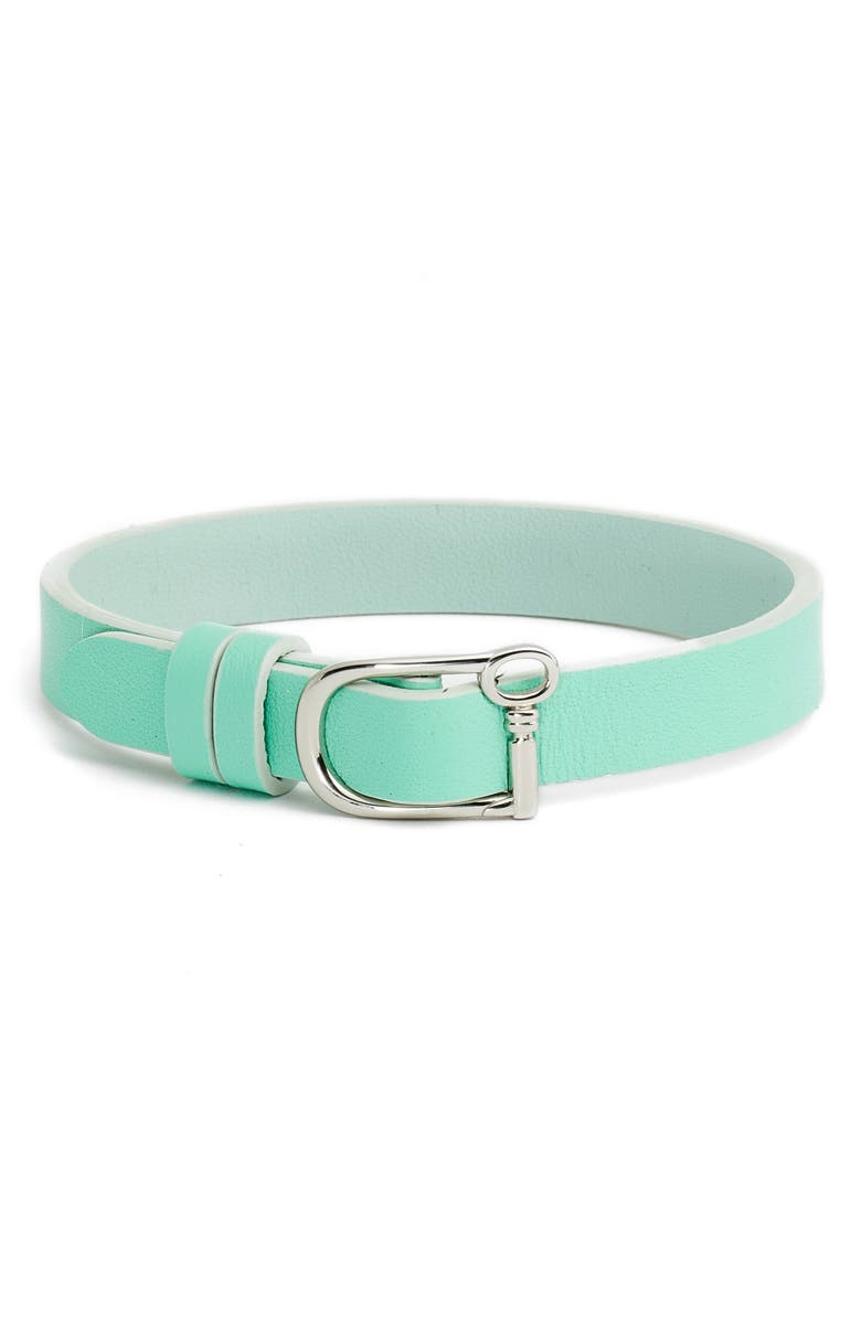KEEP COLLECTIVE Reversible Leather Band Bracelet, Main, color, GREEN