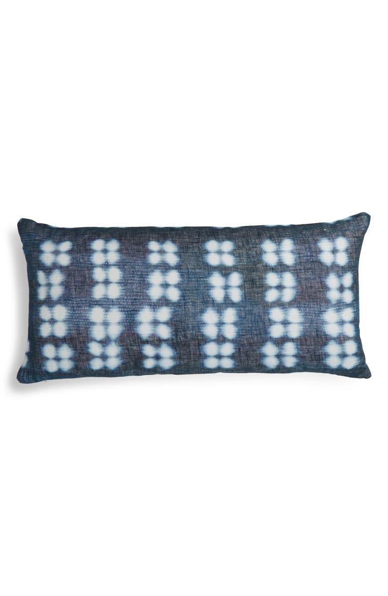 TREASURE & BOND Print Linen Accent Pillow, Main, color, NAVY ARMADA