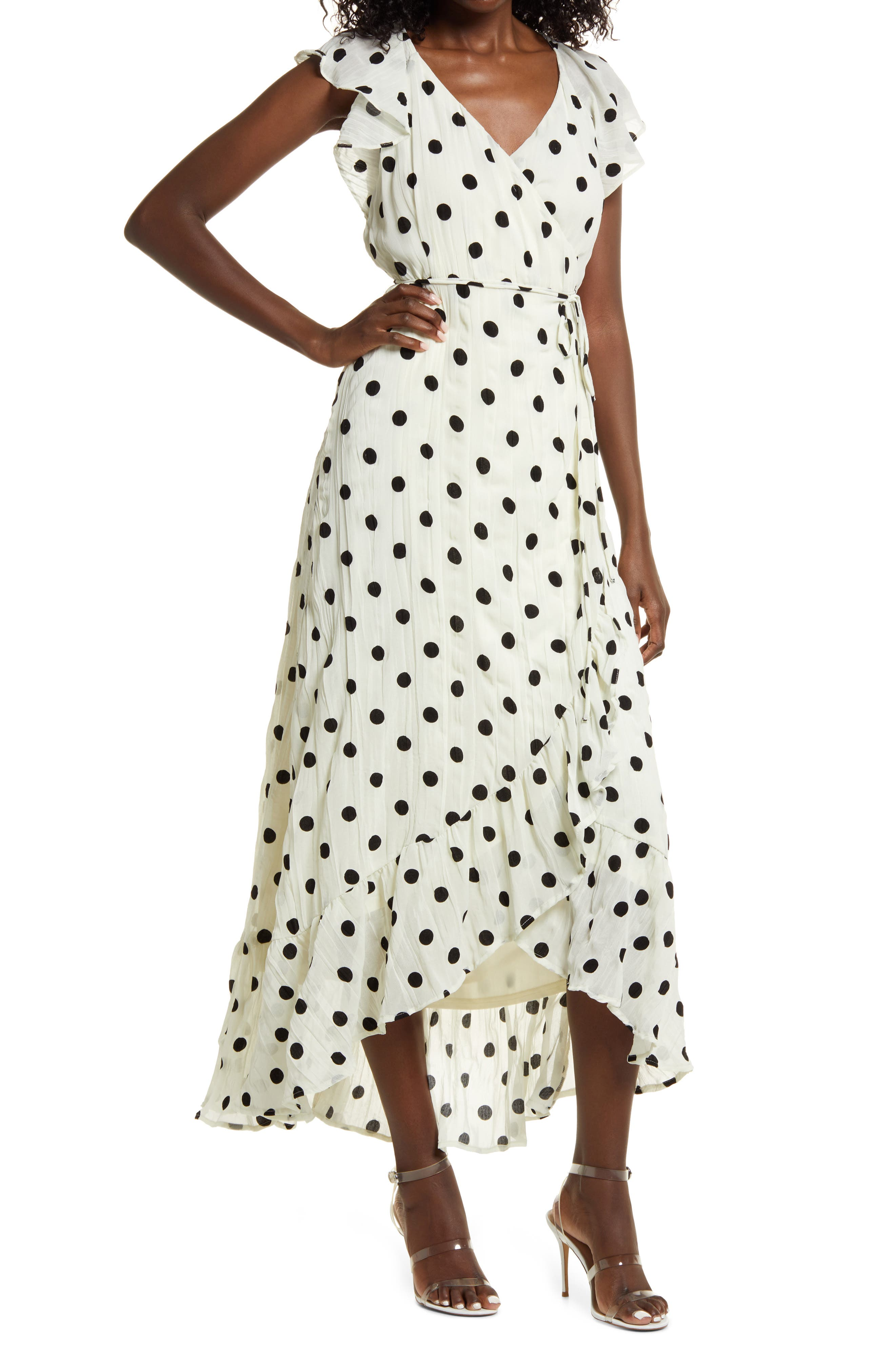 Behold The Beauty Polka Dot Wrap Dress