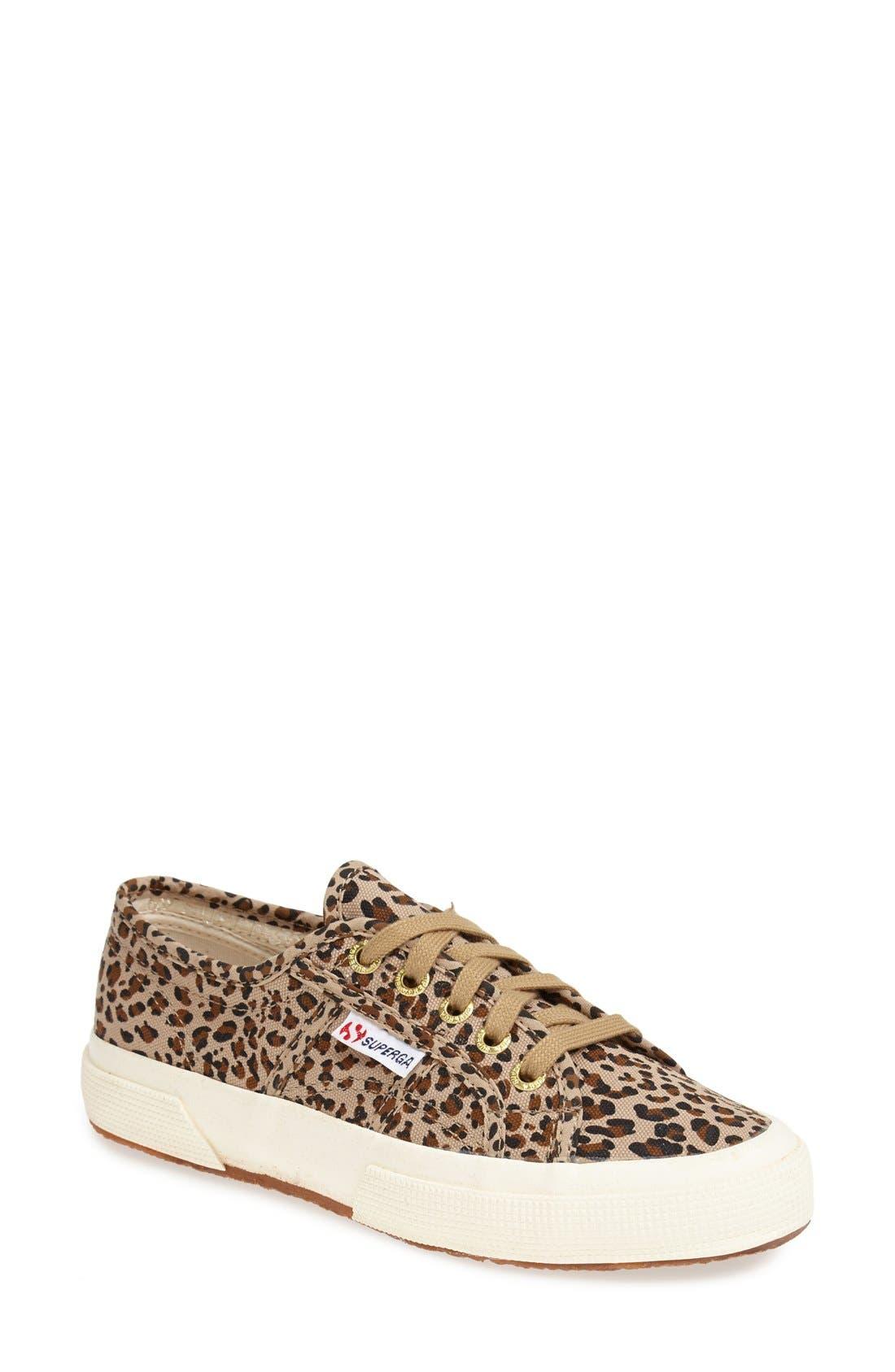 Superga 'Leo' Leopard Spot Slip-On