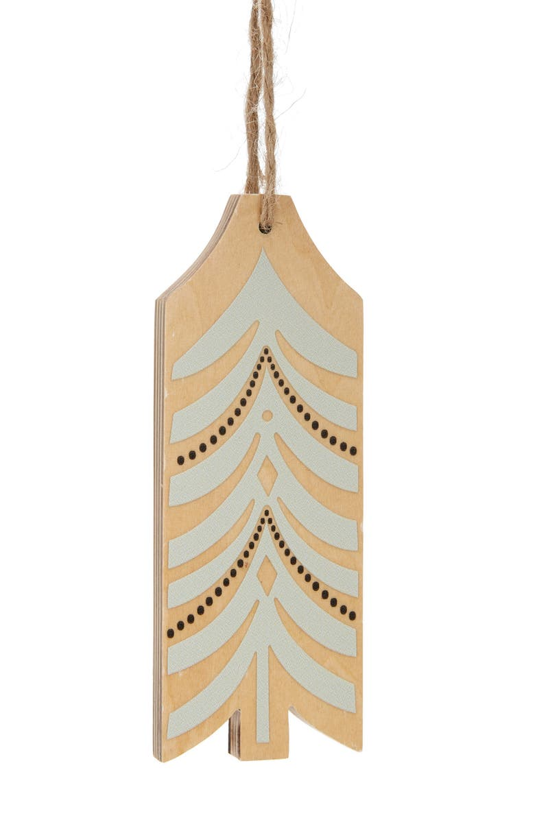 NORDSTROM at Home Cutout Tree Wood Ornament, Main, color, IVORY MULTI