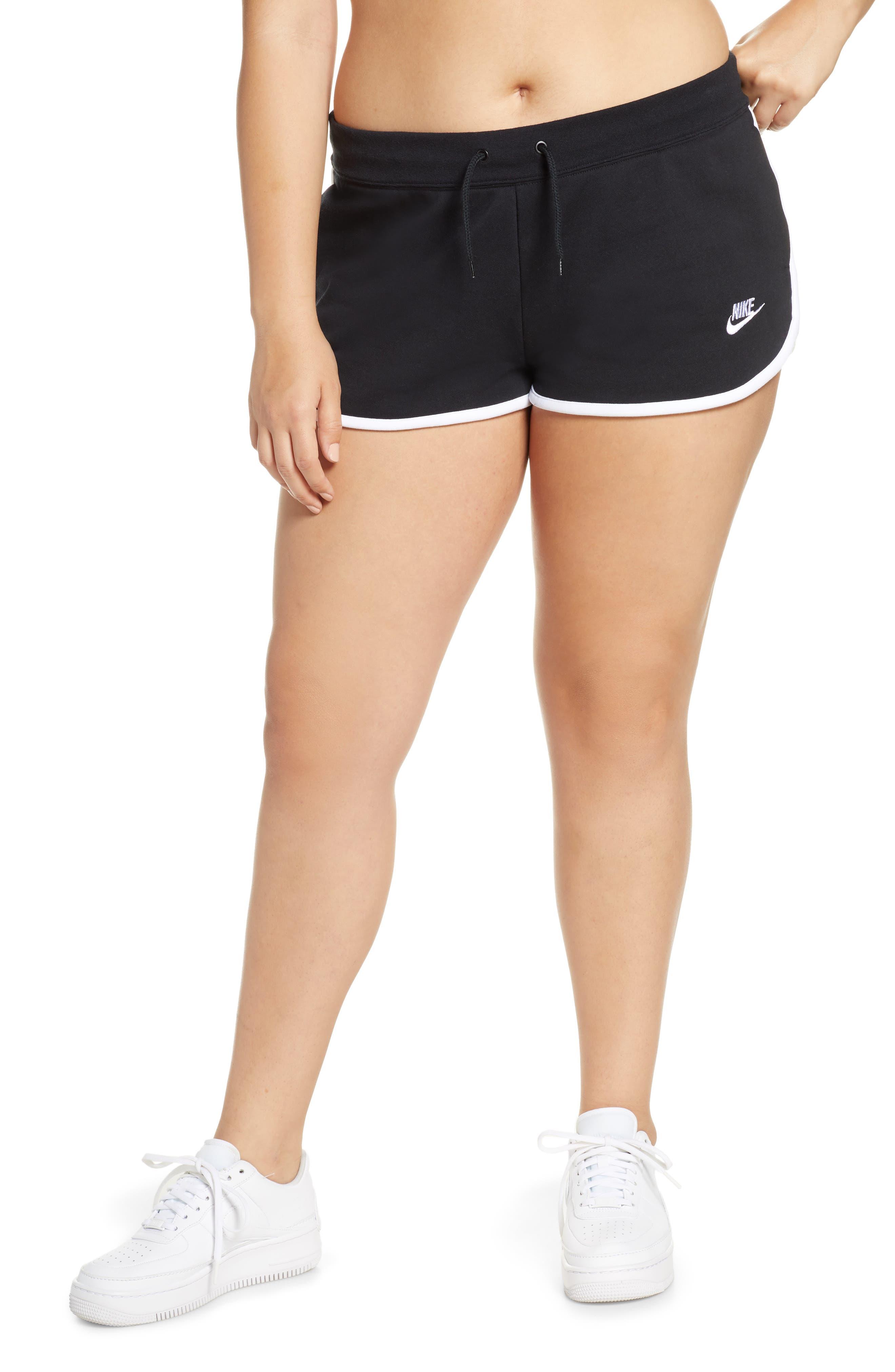,                             Sportswear Heritage Fleece Shorts,                             Alternate thumbnail 4, color,                             BLACK/ WHITE/ WHITE