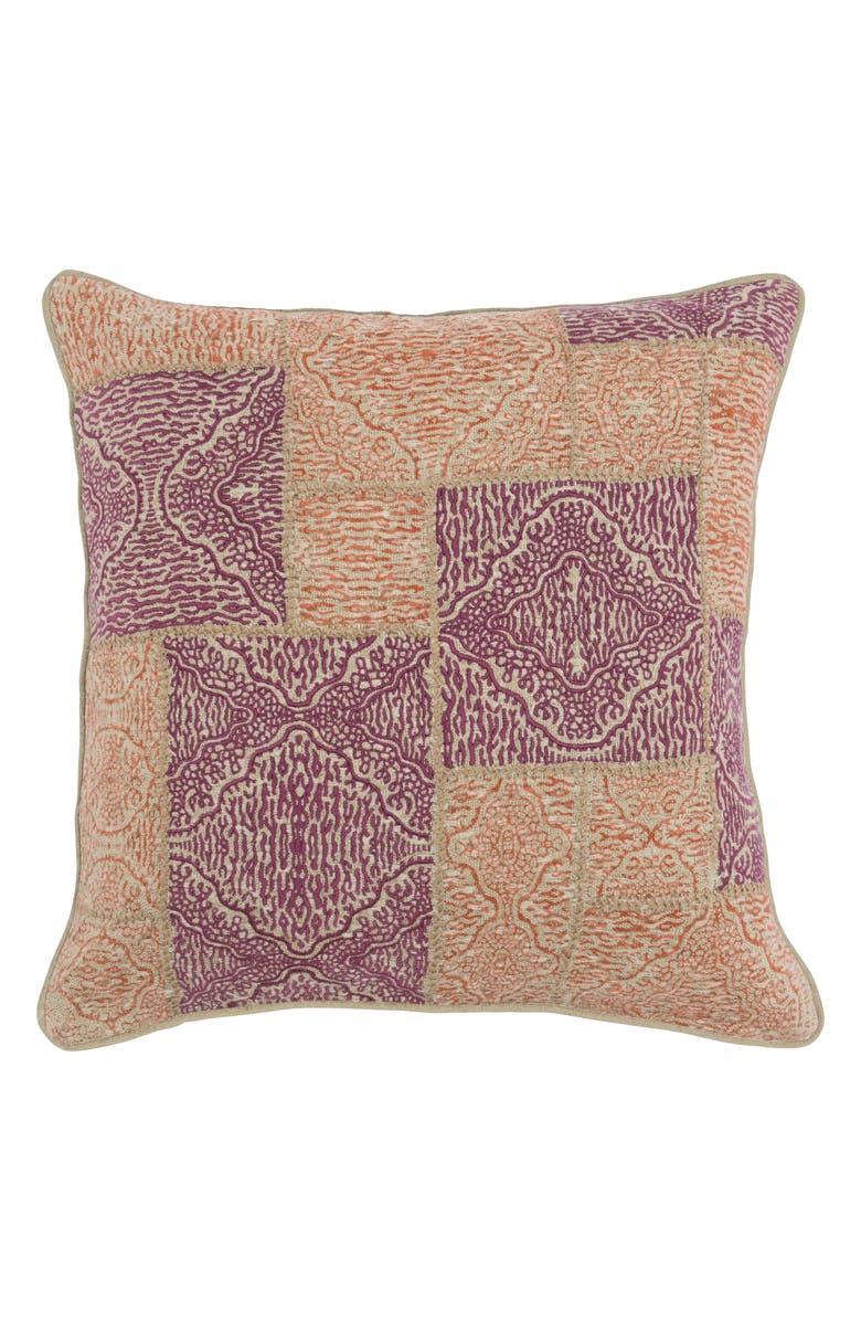 VILLA HOME COLLECTION Mara Accent Pillow, Main, color, BERRY/ ORANGE
