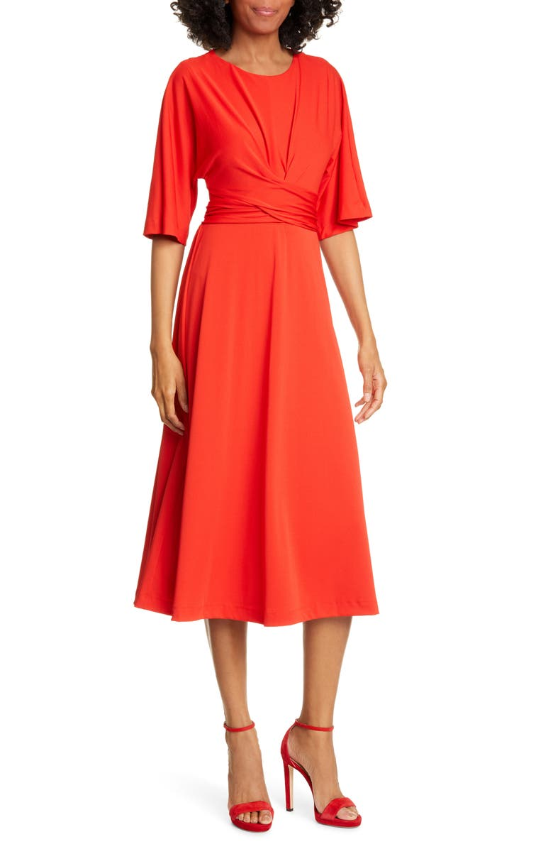 TED BAKER LONDON Syrrina Dress, Main, color, BRT-RED