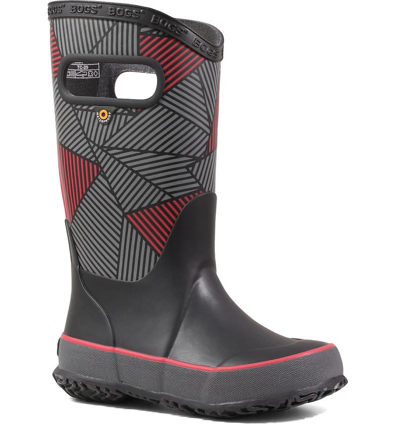 BOGS Big Geo Rubber Rain Boot, Main, color, BLACK MULTI