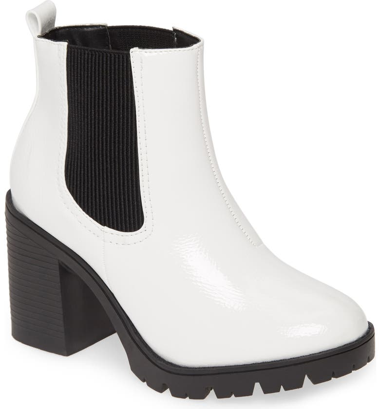 TOPSHOP Byron Chelsea Boot, Main, color, WHITE MULTI