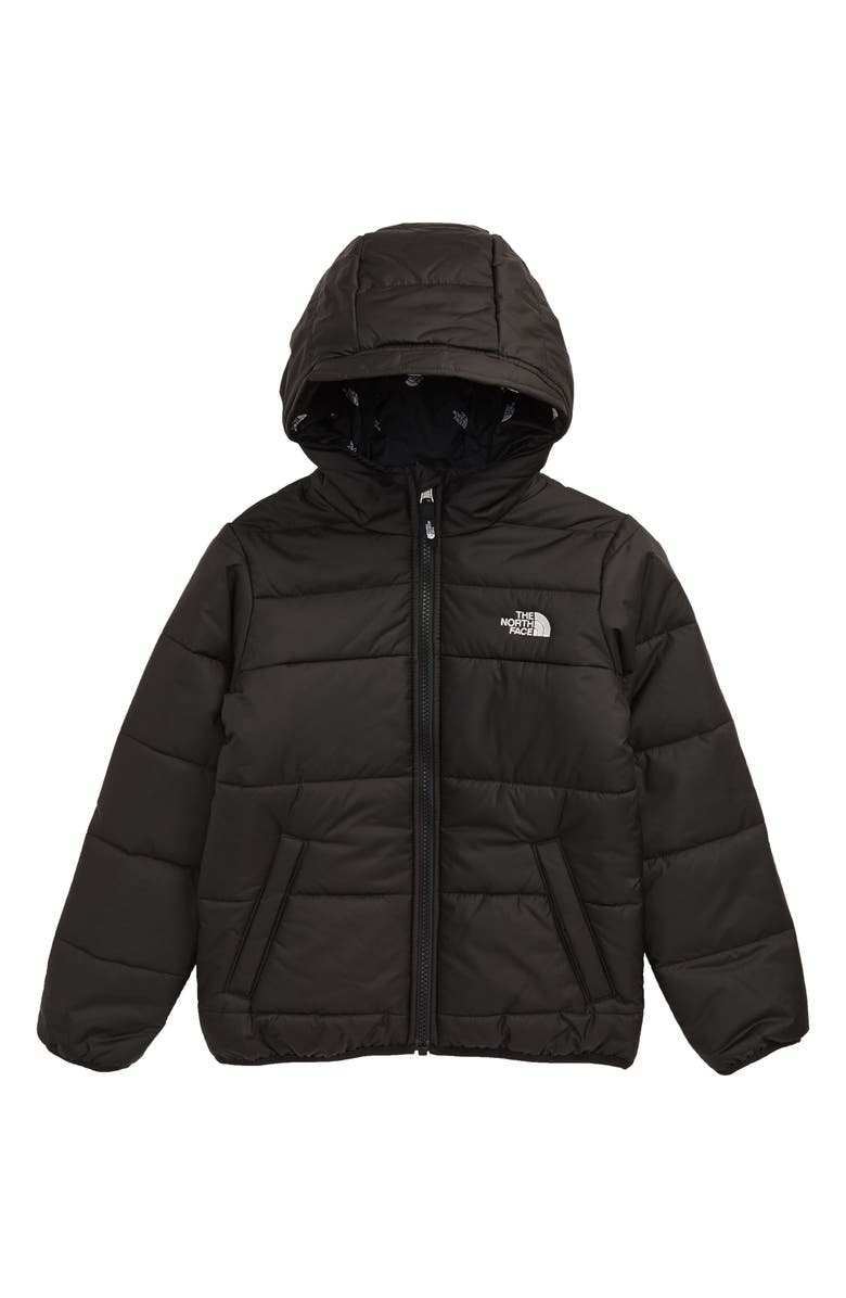 THE NORTH FACE Perrito Reversible Water Repellent Hooded Jacket, Main, color, TNF BLACK/ TNF BLACK