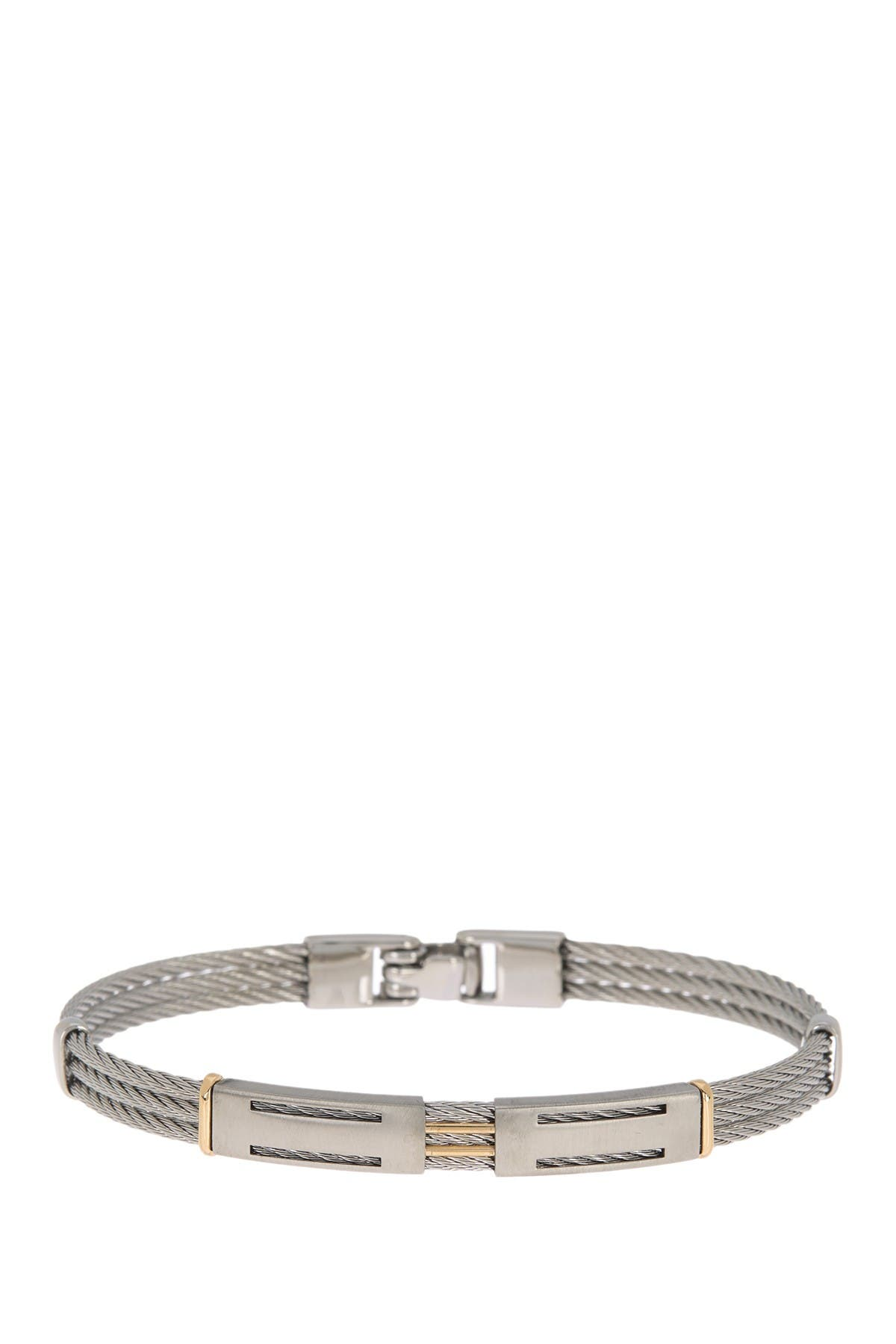 Image of ALOR Two-Tone Cable Bracelet