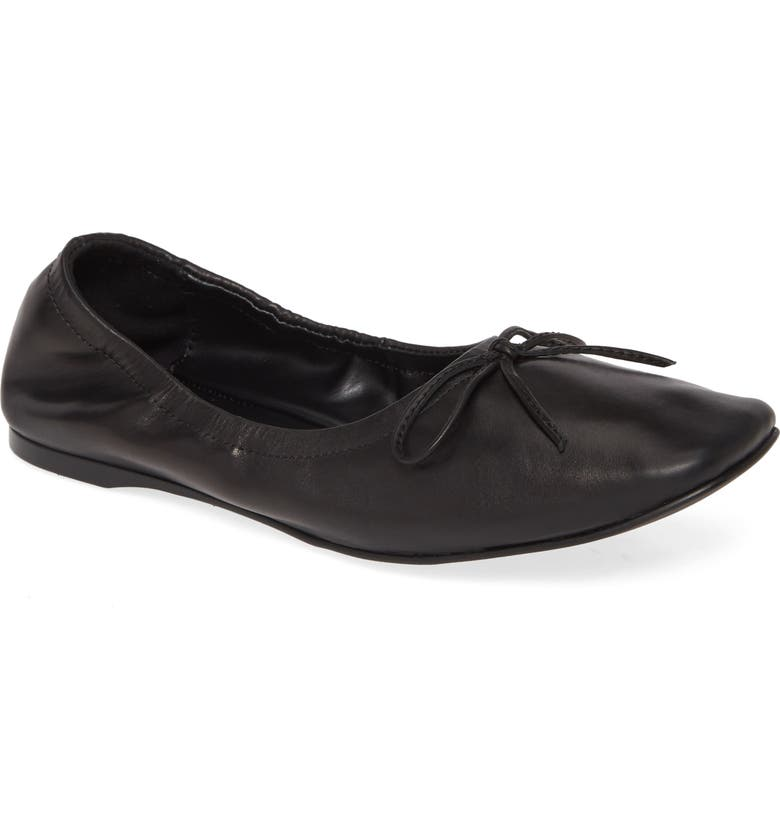 JEFFREY CAMPBELL Ballet Flat, Main, color, BLACK LEATHER