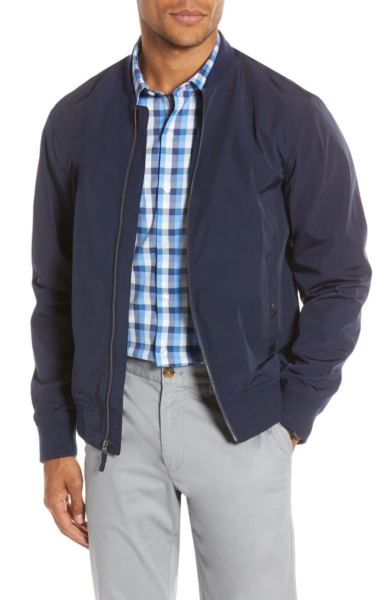 BONOBOS Bomber Jacket, Main, color, MATTE NAVY