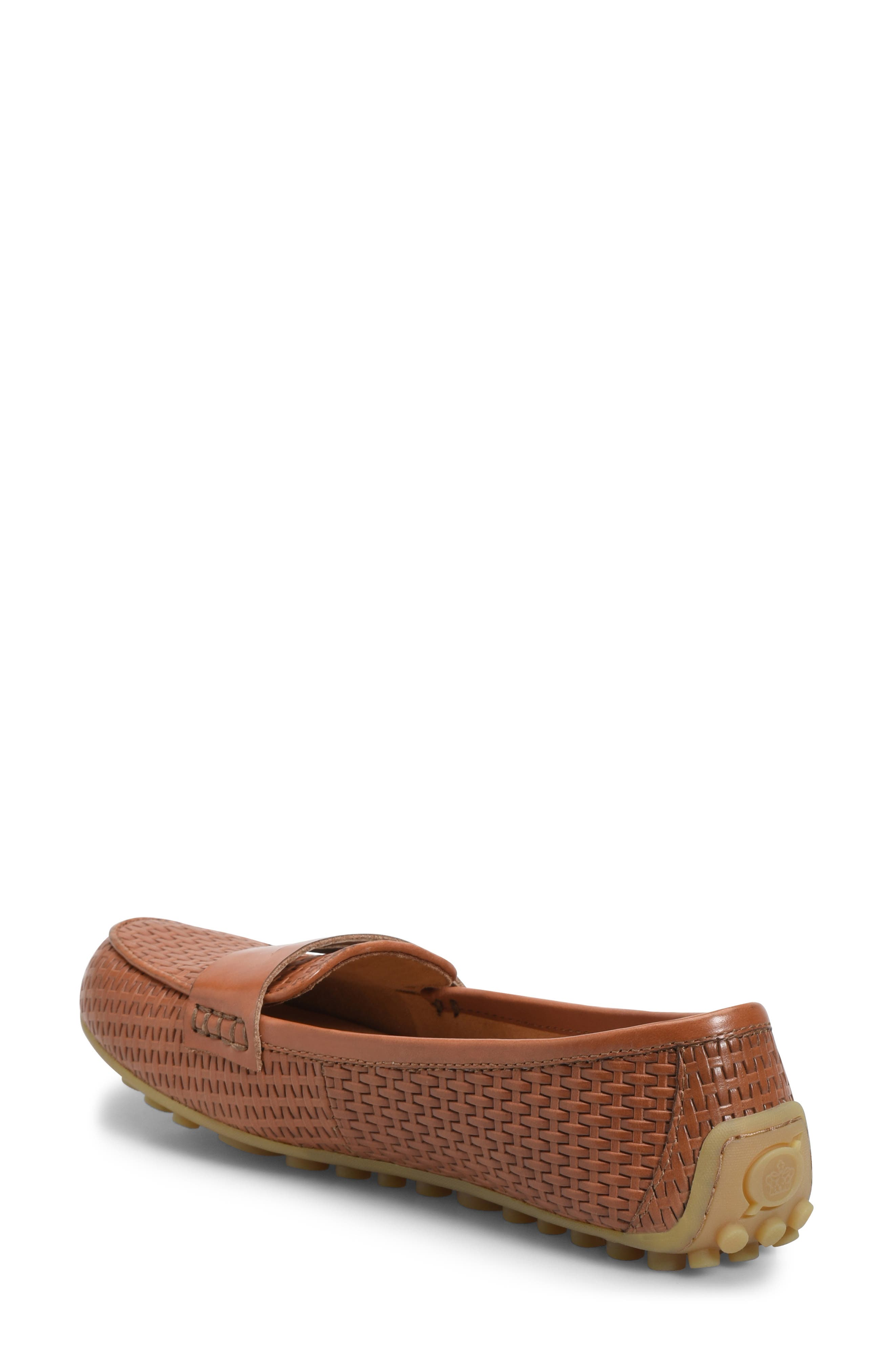 ,                             Malena Driving Loafer,                             Alternate thumbnail 2, color,                             BROWN WEAVE EMBOSSED LEATHER