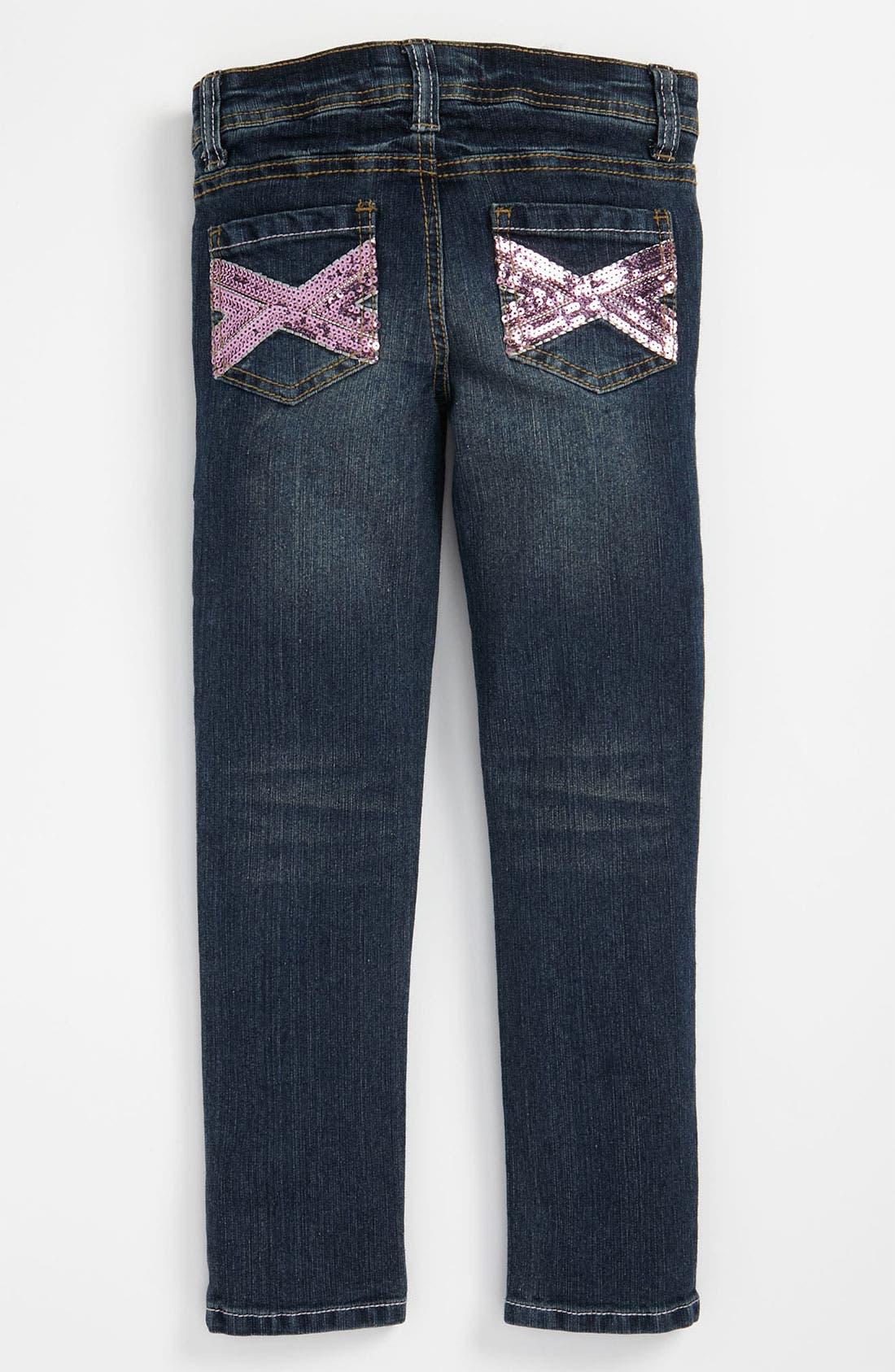 Freestyle Revolution Girls Little Denim Flocking Stars Skinny Jeans