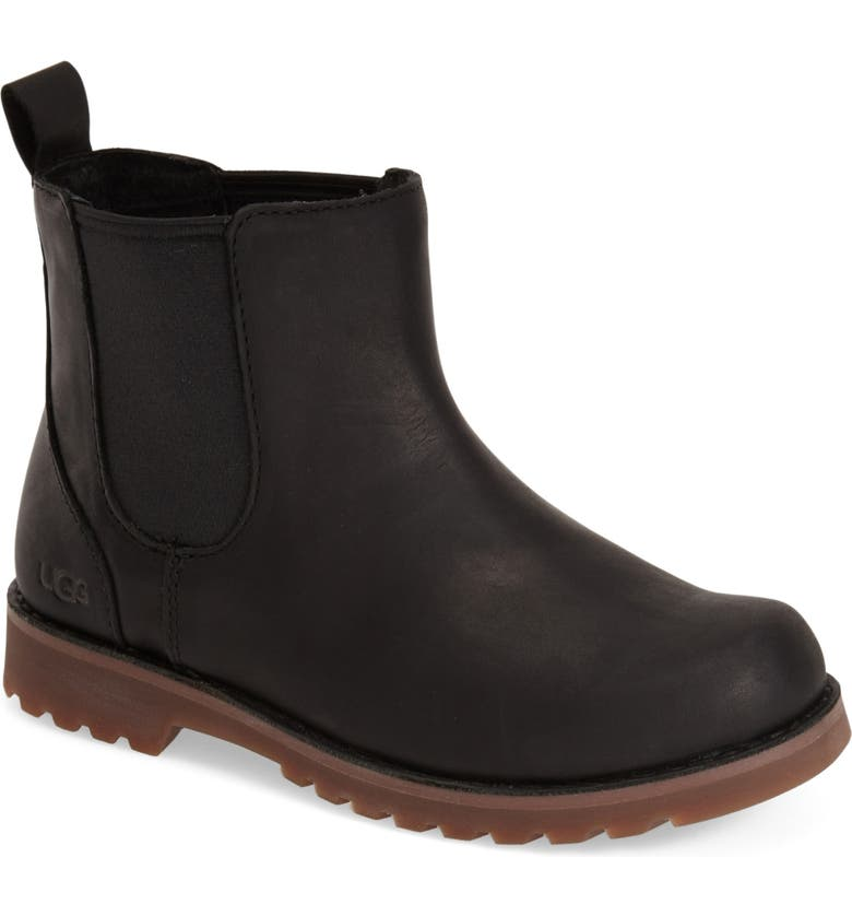 UGG<SUP>®</SUP> Callum Water Resistant Chelsea Boot, Main, color, 002