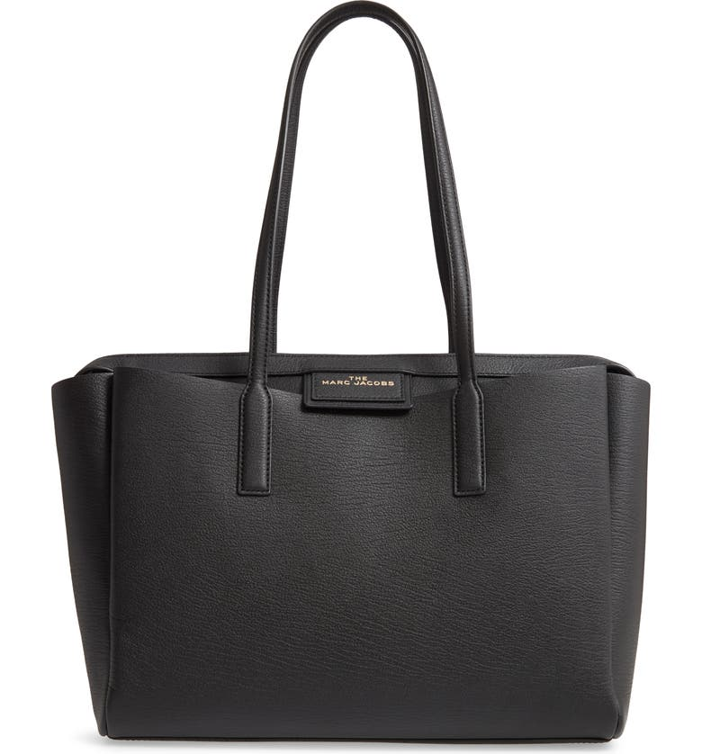 THE MARC JACOBS Protegé Leather Tote, Main, color, 001