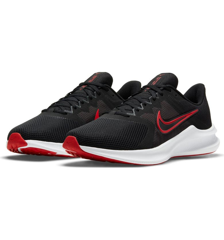 NIKE Downshifter 11 Running Sneaker, Main, color, 005 BLACK/UNVRED