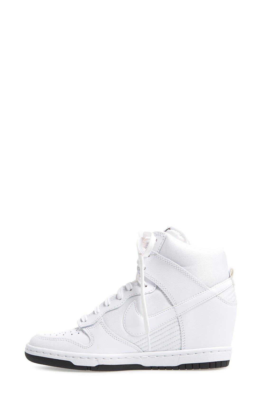 ,                             'Dunk Sky Hi - Essential' Wedge Sneaker,                             Alternate thumbnail 38, color,                             101