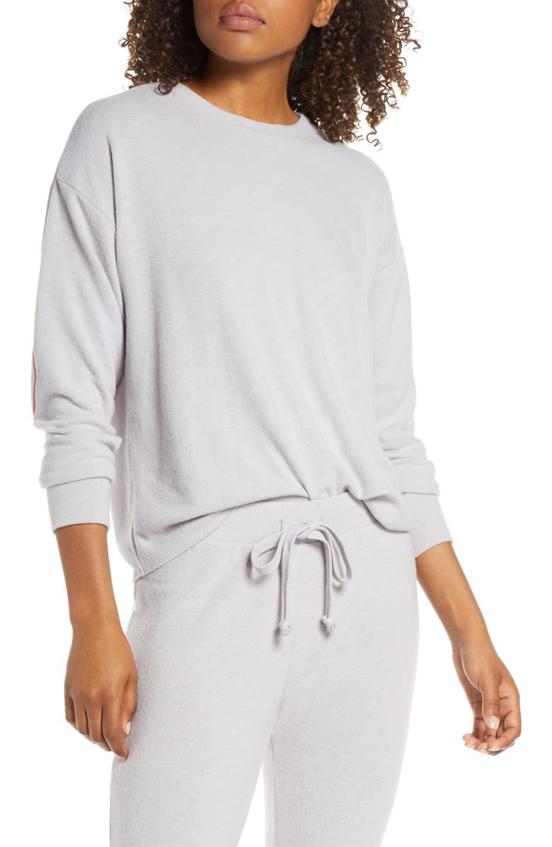 SOCIALITE Elbow Hearts Sweatshirt, Main, color, GREY SCONE