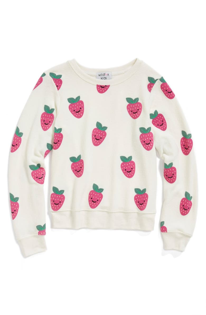 82d1d5af22 Wildfox 'Happy Berries - Baggy Beach Jumper' Sweatshirt (Big Girls ...