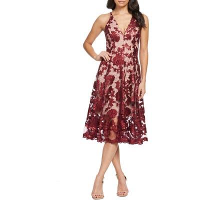 Dress The Population Maria Embellished Fit & Flare Dress