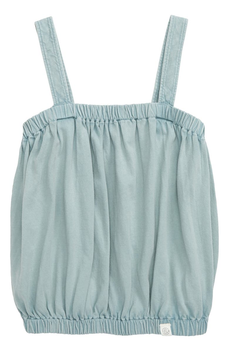 TREASURE & BOND Washed Knit Tank, Main, color, BLUE TOURMALINE
